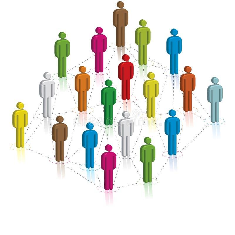 Social Network. Concept, illustration-vector vector illustration