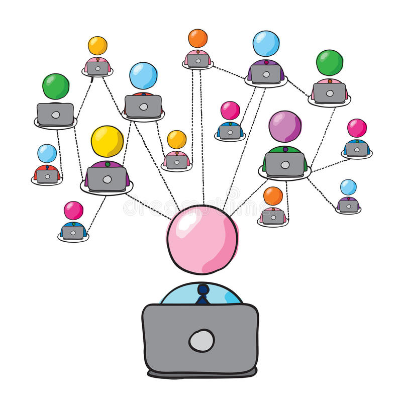Social network 2 royalty free illustration