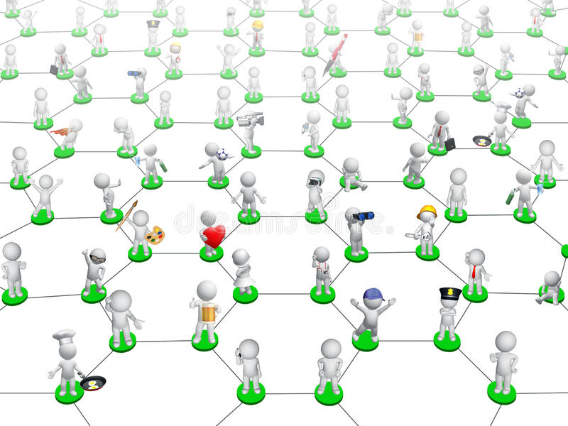 Download Social network stock illustration. Image of users, connect - 20075896