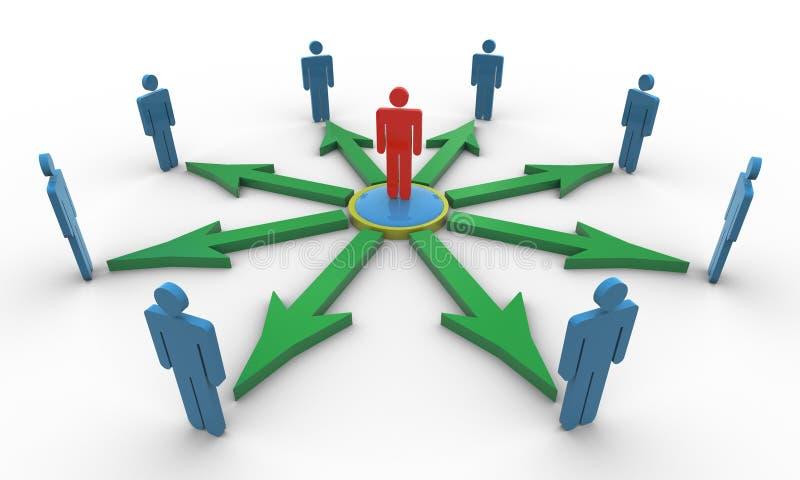 Social Network. 3d render of social network concept royalty free illustration