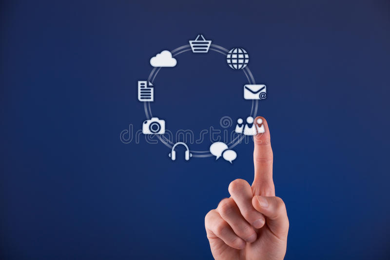 Download Social network stock illustration. Image of blue, choice - 28101632