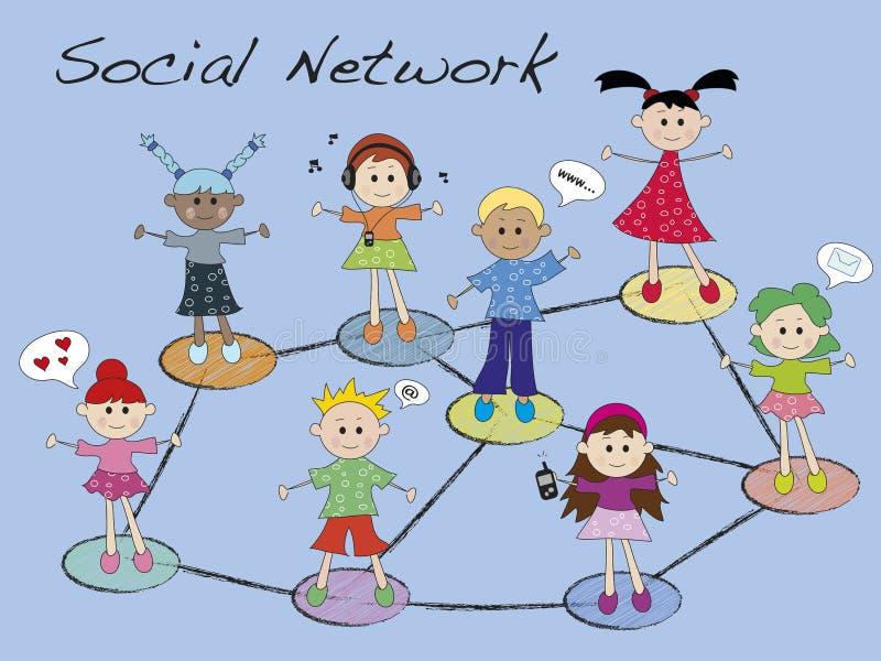 Download Social network stock illustration. Image of information - 28751146