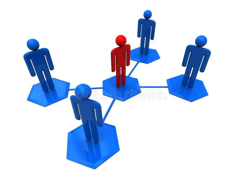 Social network. 3d illustration of social network symbol over white background royalty free illustration