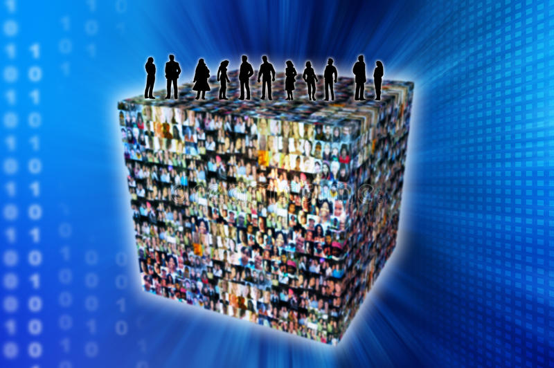 Download Social network stock illustration. Image of myspace, twitter - 9694100