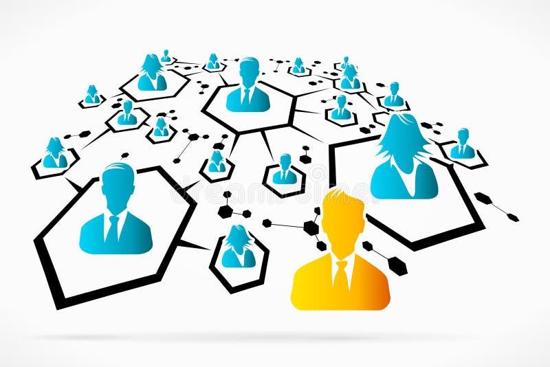 Social Network. Abstract social network social media business vector illustration stock illustration