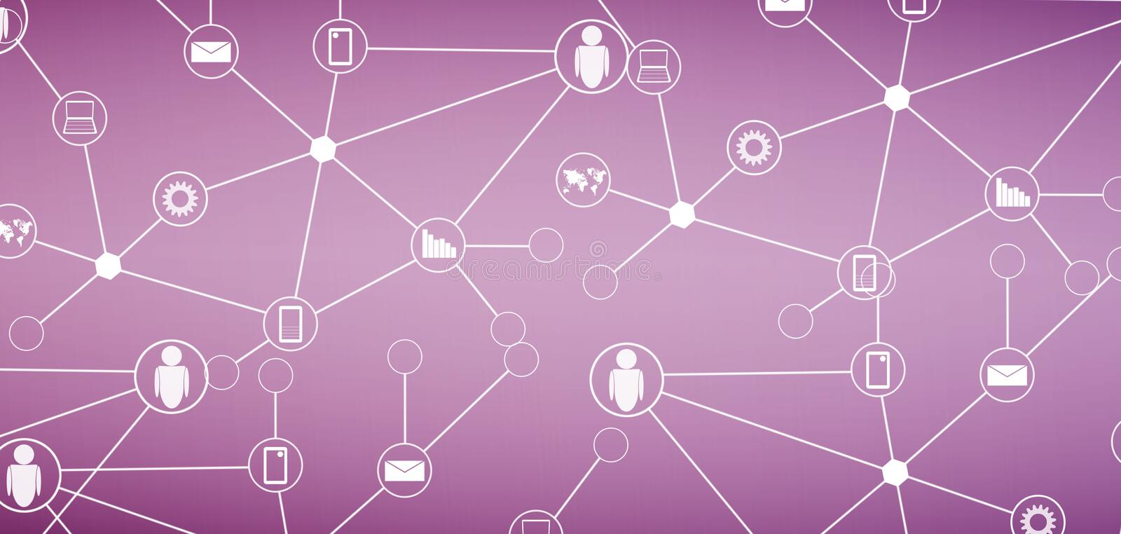 Social network. Abstract social network and technology background royalty free stock images