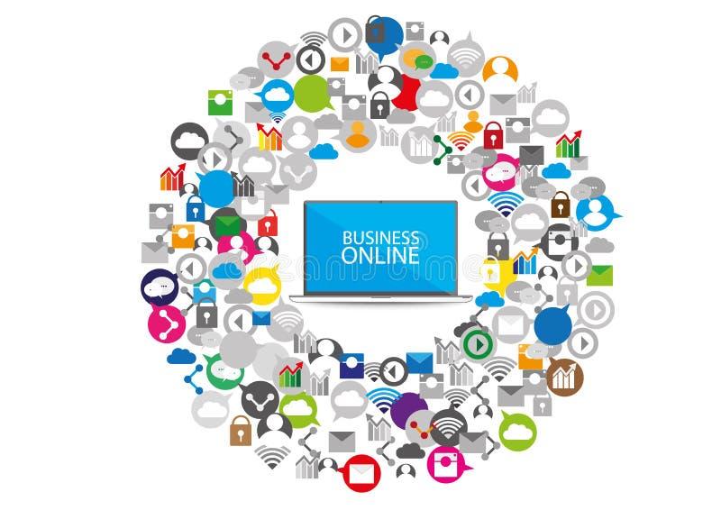 Social network communication business design. Social network and communication for your business design vector illustration