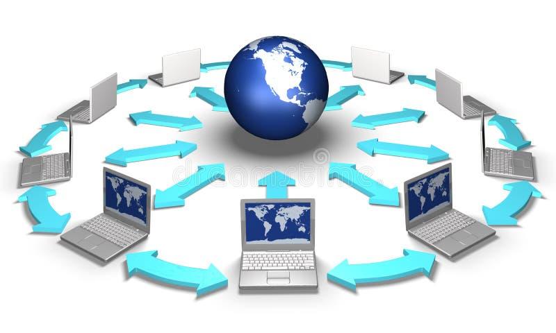 Social network concept. E-commerce concept stock illustration