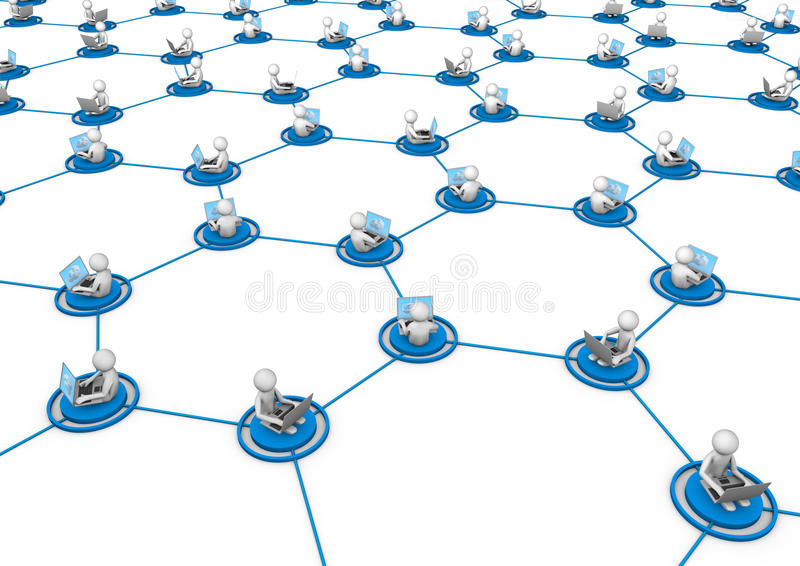 Social network concept vector illustration