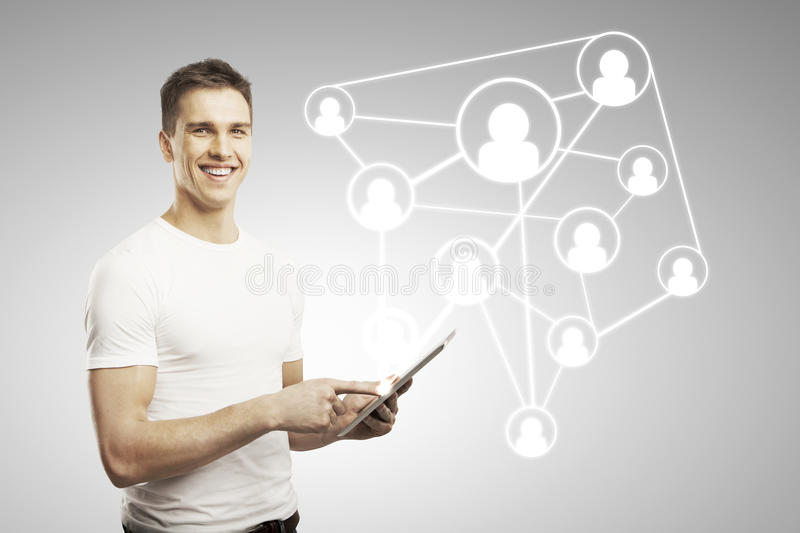 Download Social network concept stock photo. Image of human, device - 28636674