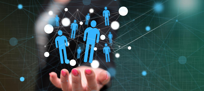 Concept of social network stock illustration