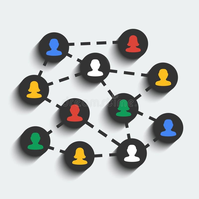 Social network concept. Social network vector concept. EPS 10 royalty free illustration
