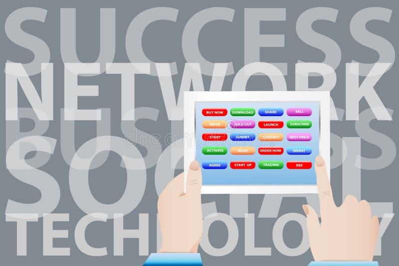 Social network concept vector stock illustration