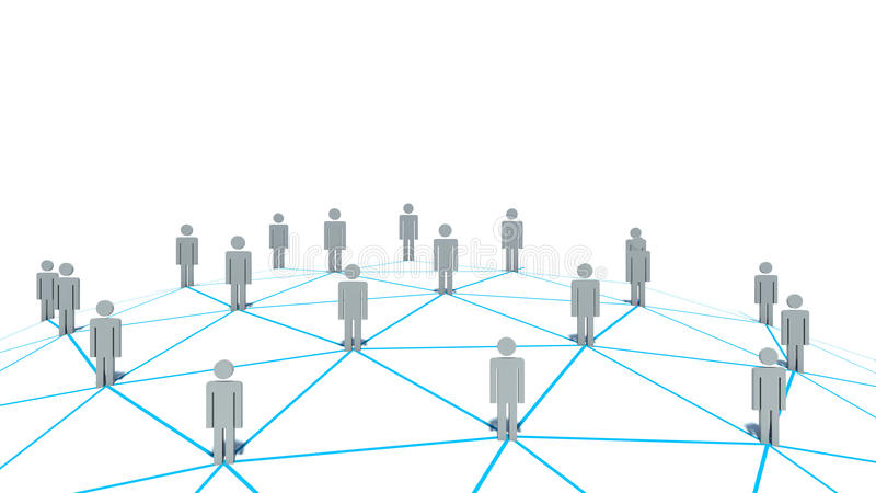 Social Network Concept On White Background Stock Illustration