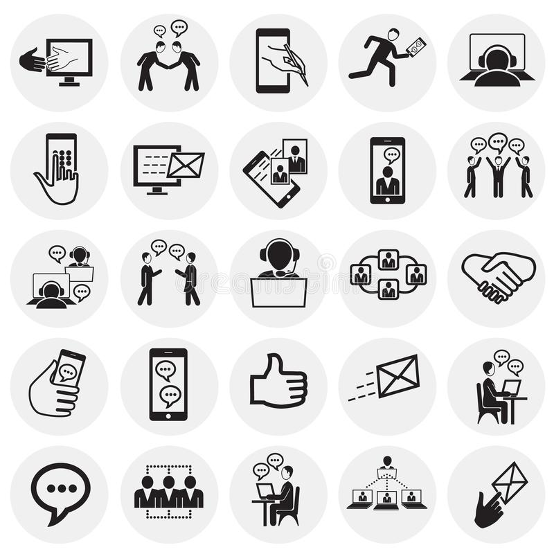 Social network and connections on circles background royalty free illustration
