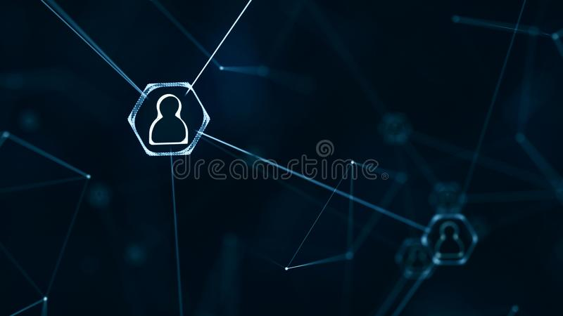 Connecting people stock photography