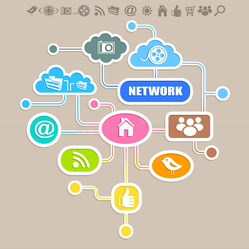 Social network. Creative background. Vector royalty free illustration