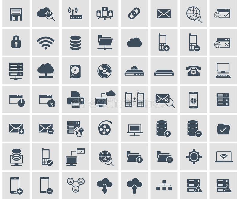 Social network, data analytic, mobile and web application icon set. Flat vector vector illustration