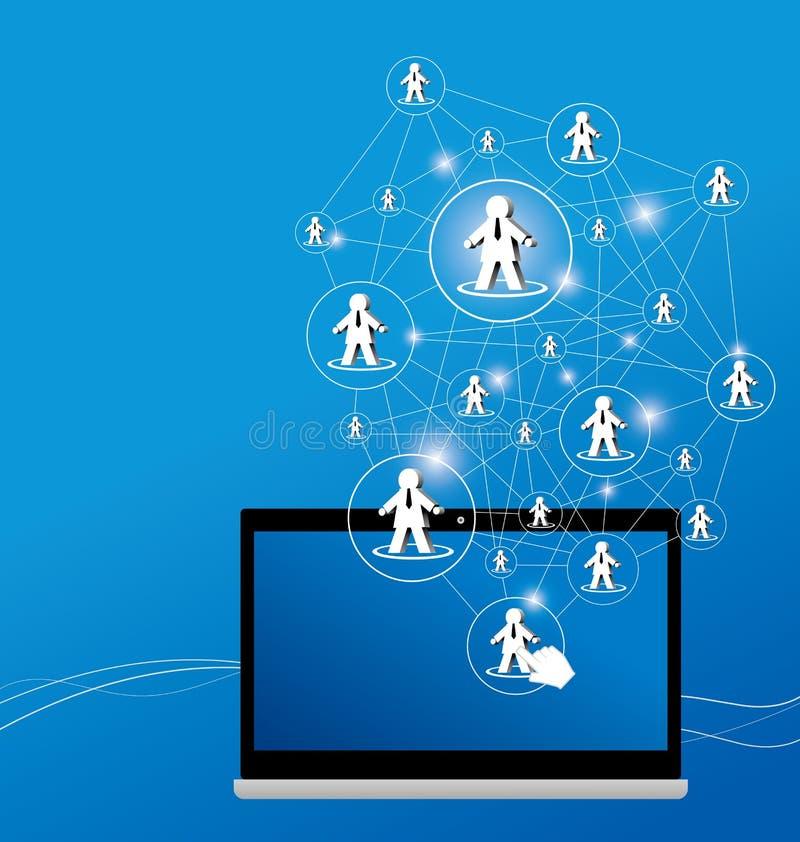 Social network design. On blue background vector illustration