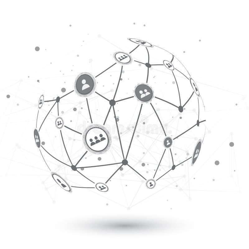 Social Network EPS10 Vector Design Concept Illustration. Social Network Vector Design Concept Illustration vector illustration