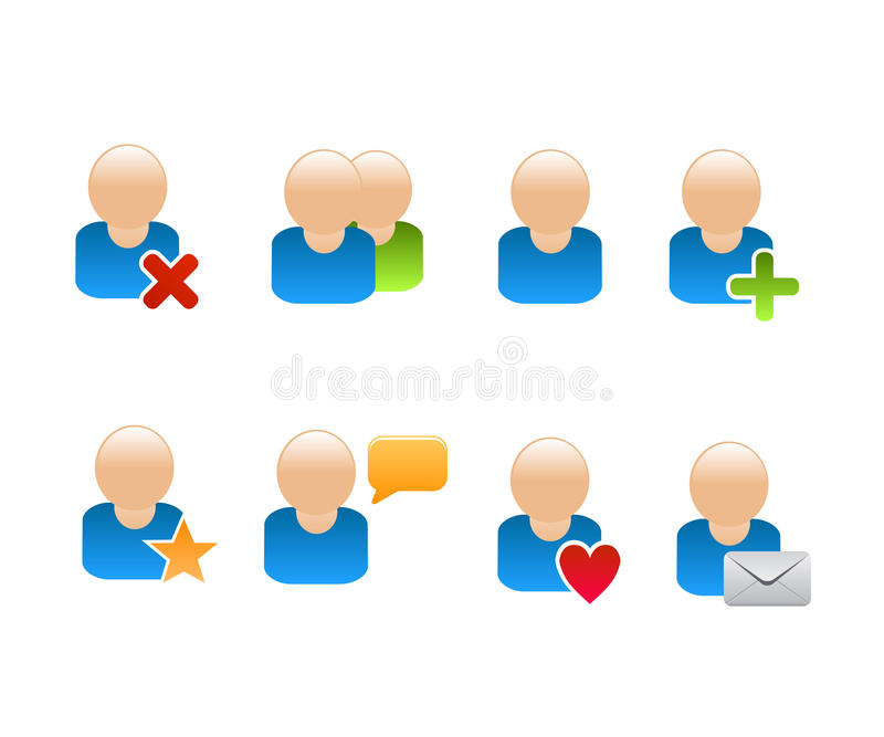 Social Network Friend Icons Royalty Free Stock Images