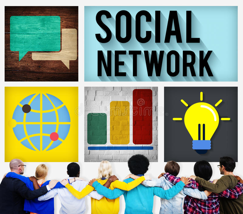 Social Network Global Communications Technology Connection Conce royalty free stock photo