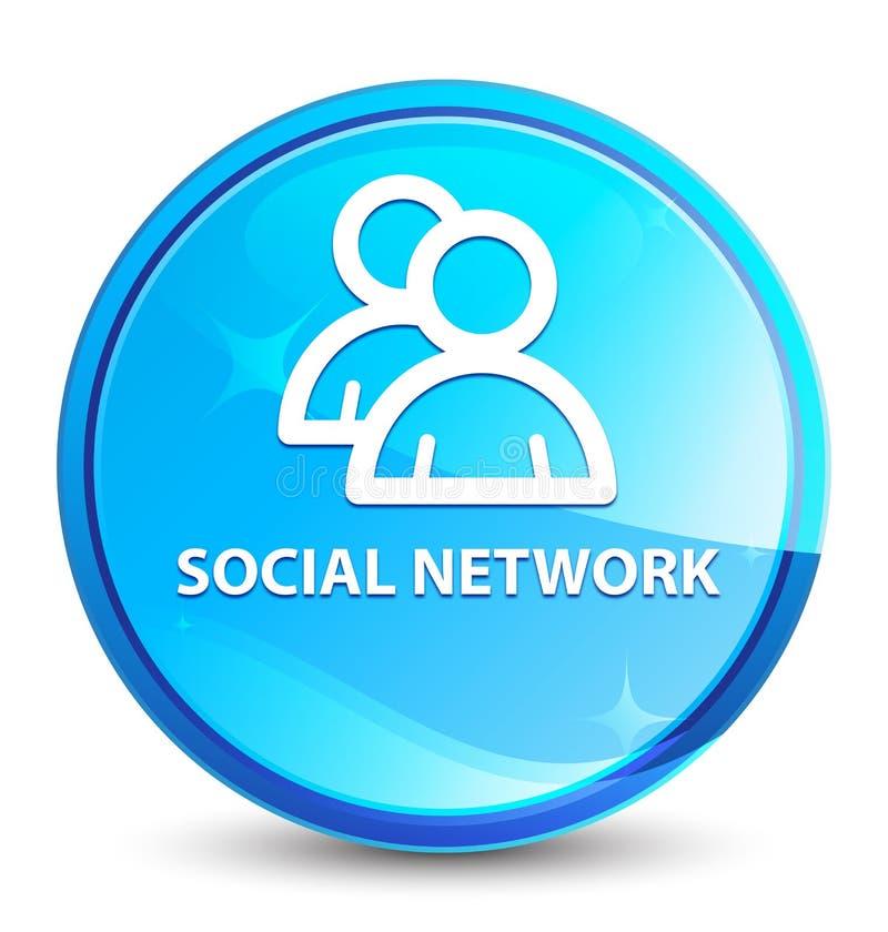 Social network (group icon) splash natural blue round button. Social network (group icon) isolated on splash natural blue round button abstract illustration vector illustration