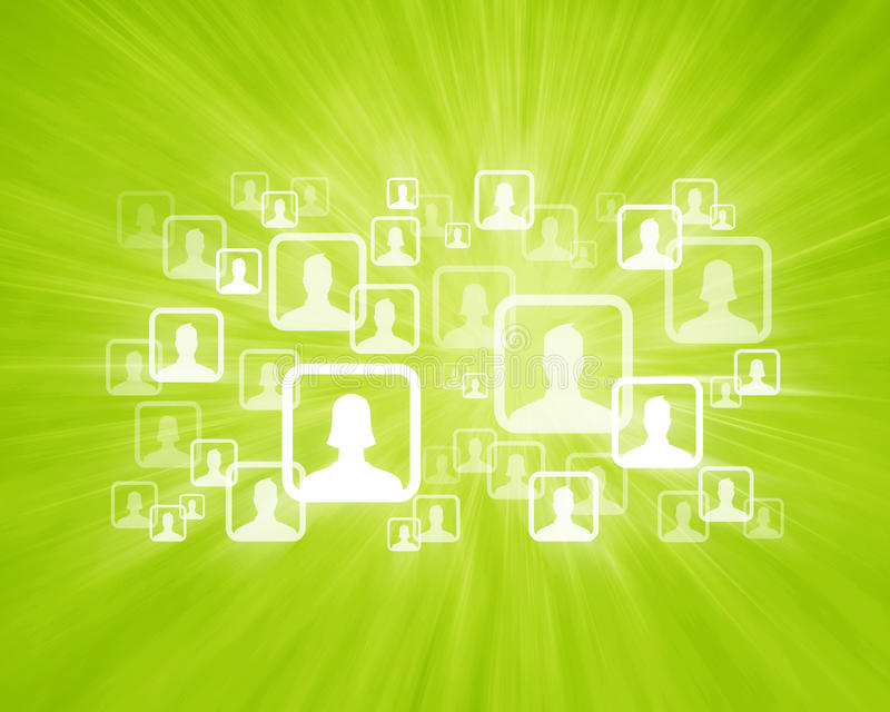 Social Network Groups Stock Images