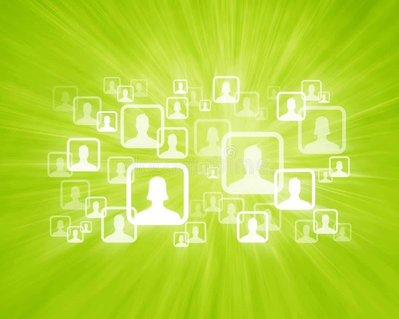 Social Network Groups. User Icons on Social Media Network royalty free illustration