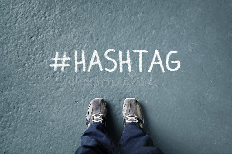 Social network hashtag royalty free stock image