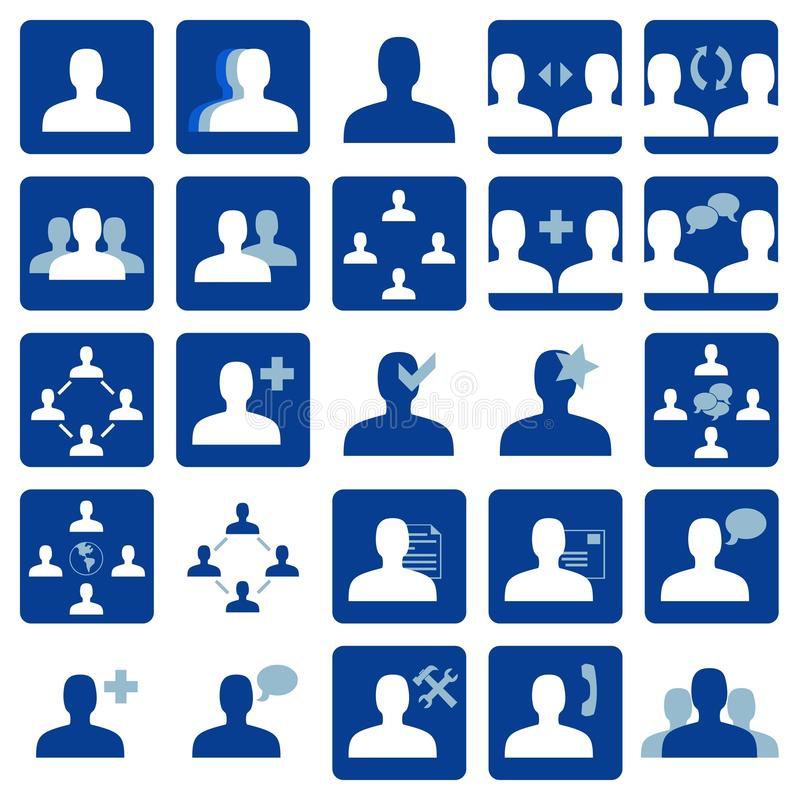 Social network icon. Set of 25 blue social network icons. Vector available vector illustration