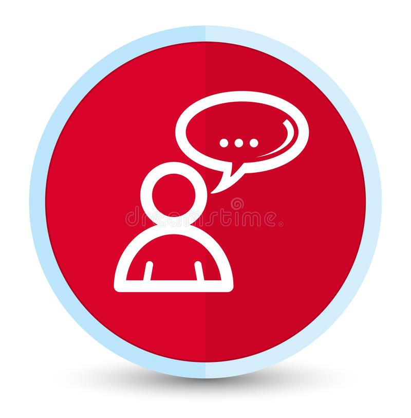 Social network icon flat prime red round button. Social network icon isolated on flat prime red round button abstract illustration royalty free illustration