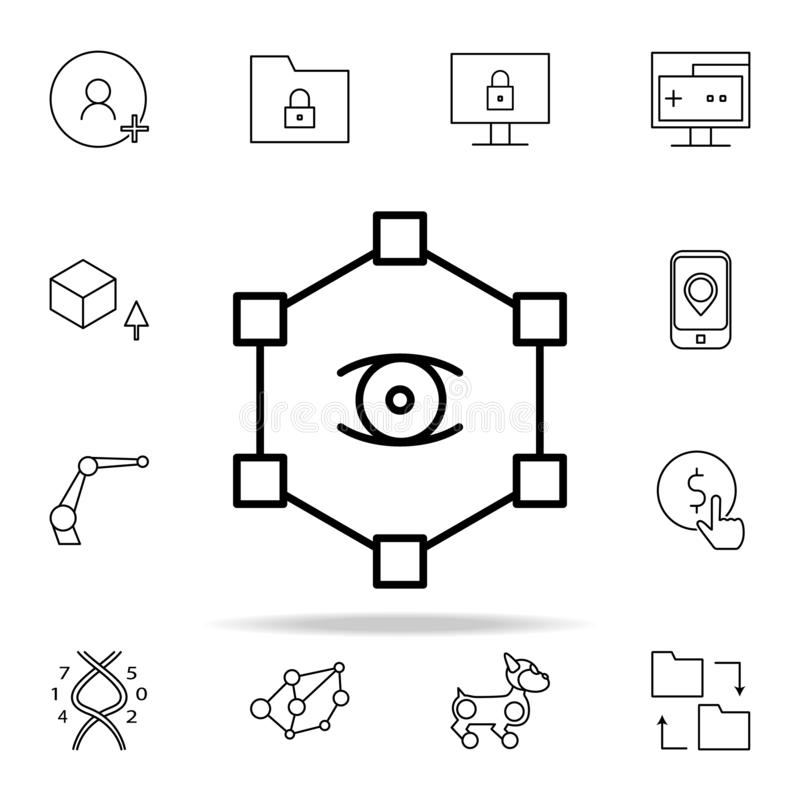 Social network icon. New Technologies icons universal set for web and mobile. On white background vector illustration