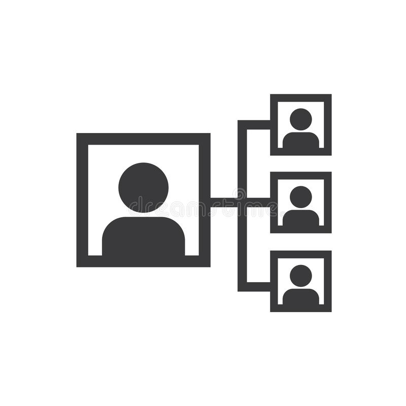 Social network icon, people network and team illustration. vector, eps 10 stock illustration