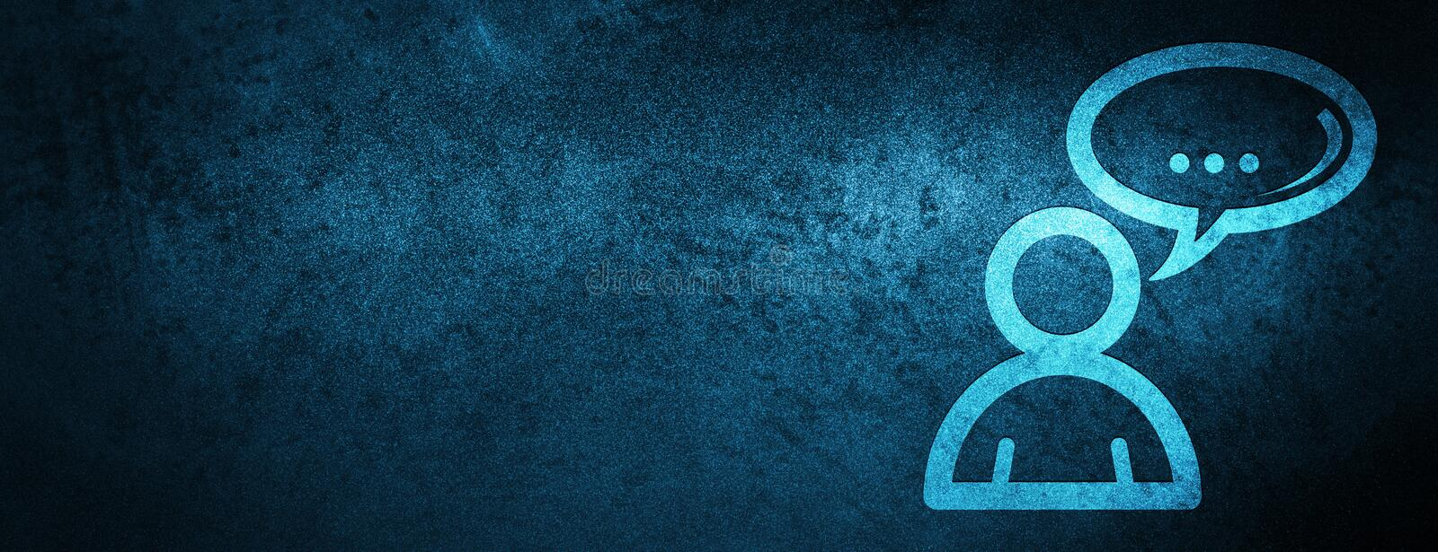 Social network icon special blue banner background vector illustration