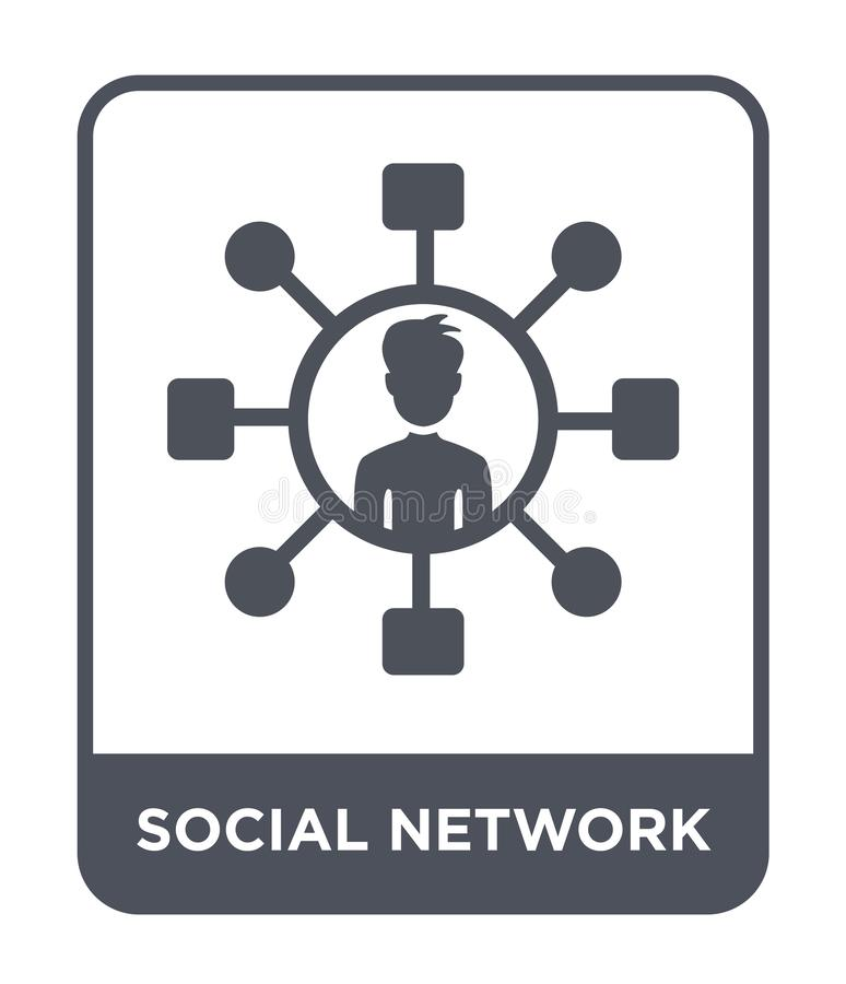 Social network icon in trendy design style. social network icon isolated on white background. social network vector icon simple. And modern flat symbol for web stock illustration