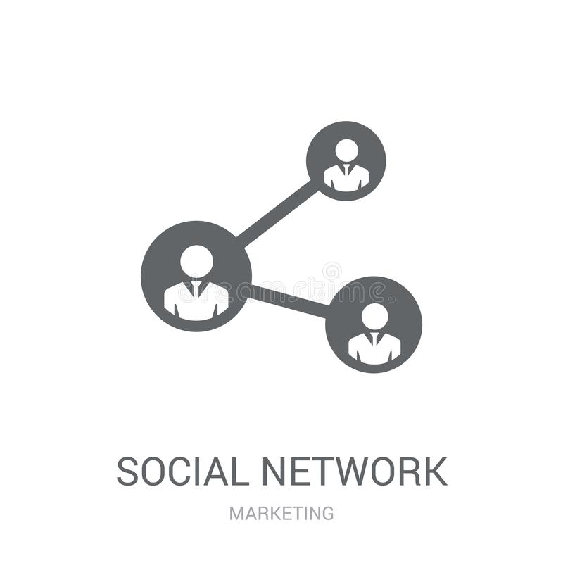 Social network icon. Trendy Social network logo concept on white. Background from Marketing collection. Suitable for use on web apps, mobile apps and print royalty free illustration