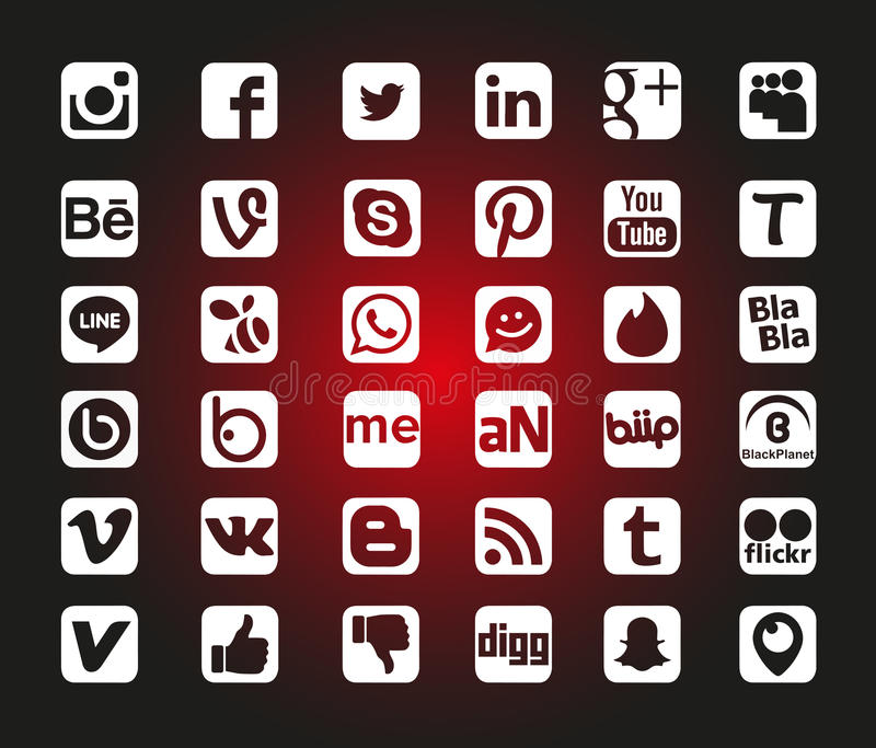 Download Social Network Icons editorial stock image. Illustration of cool - 78675014