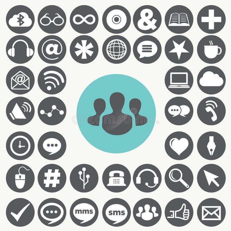 Social network icons set. Illustration eps10 vector illustration