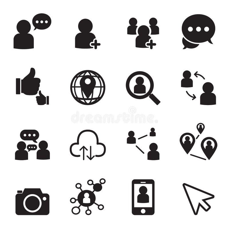 Social network icons. Vector Illustration Graphic Design vector illustration