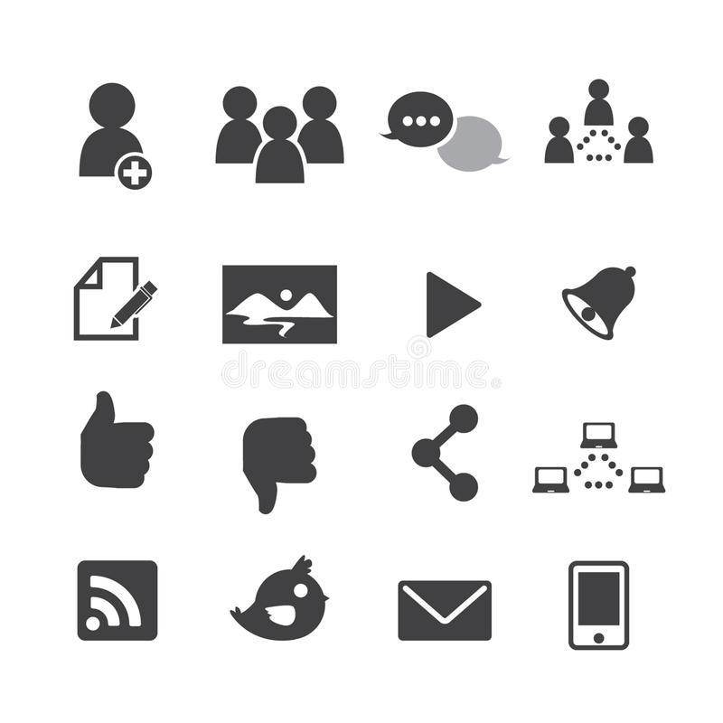 Social network icons royalty free illustration