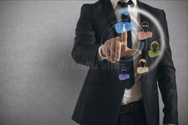 Social Network Interface stock photo