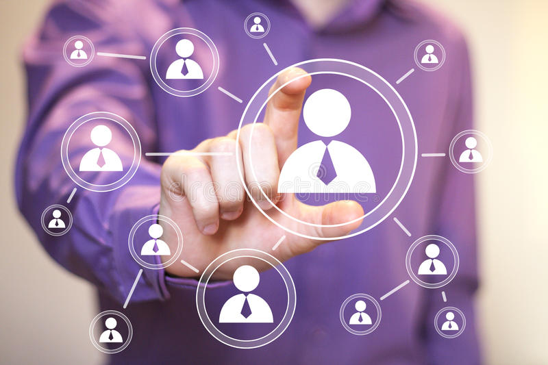 Social Network Interface businessman communication icon royalty free stock images