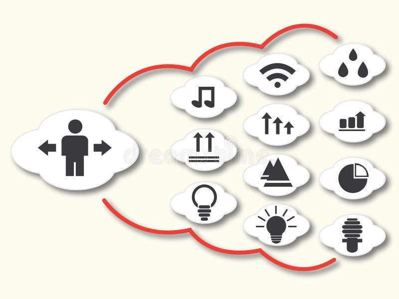 Social network. Social Media Network Illustration, Vector, Icon royalty free illustration