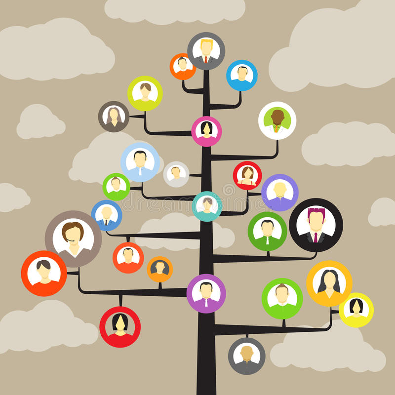 Social network members vector illustration