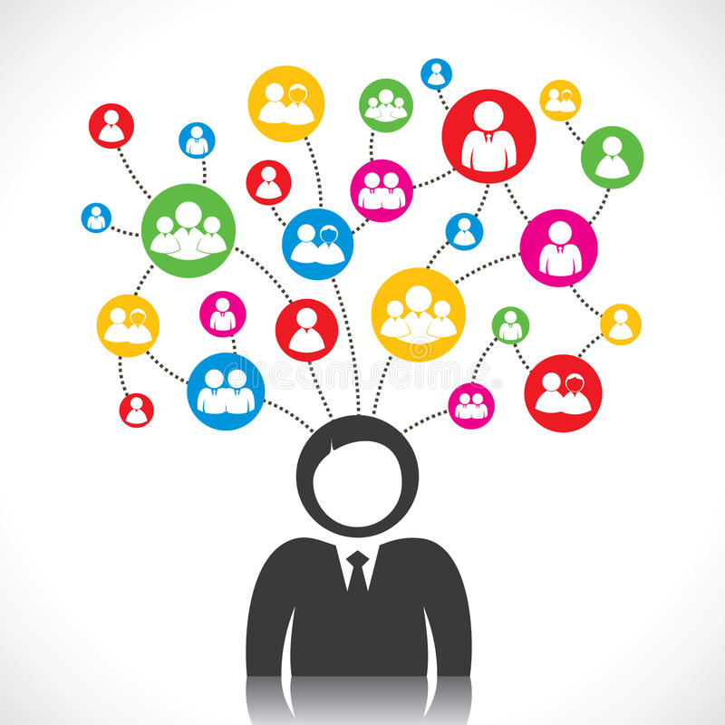 Social network of people. Stock vector illustration