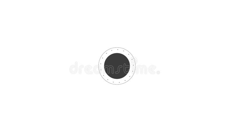 Social Network People Icon Link Connection Technology Loop Animation. Beautiful. Add Friends Network Icon Link stock illustration