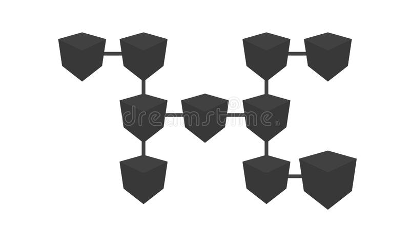 Social Network People Icon Link Connection Technology Loop Animation. Beautiful. Add Friends Network Icon Link royalty free illustration