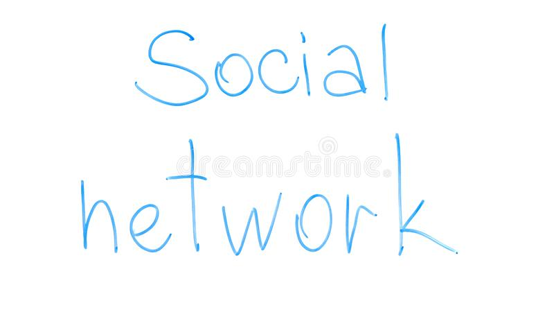 Social network phrase written on glass, international chatting, youth leisure royalty free stock photos