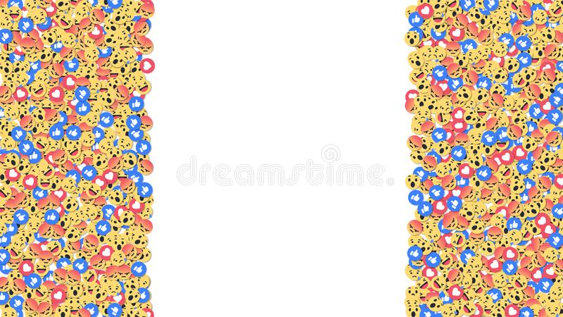 Social network reactions icon background. Vector illustration stock illustration